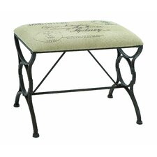Paris Postcard Metal Bedroom Bench by Woodland Imports