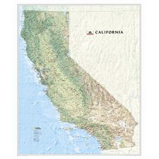 California State Wall Map
