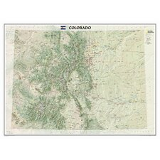 Colorado State Wall Map