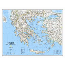 Greece Classic Wall Map