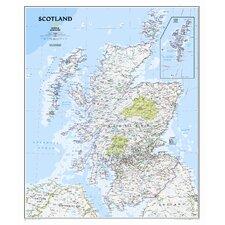 Scotland Classic Wall Map