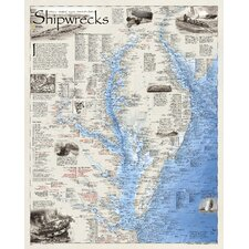 Shipwrecks of Delmarva Wall Map