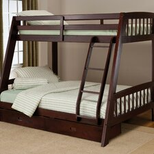 rockdale twin over full bunk bed with storage