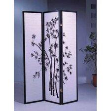"70"" x 51"" Bamboo Shoji 3 Panel Room Divider"