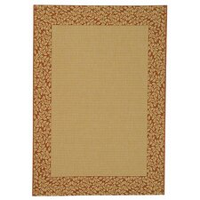 Courtyard Natural/Terracotta Outdoor Area Rug