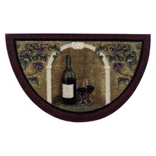 Wine Kitchen Brown Area Rug