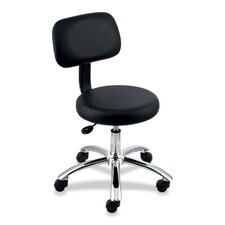 Pneumatic Height Stool with Back