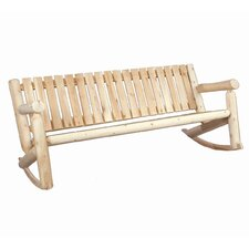 Indoor / Outdoor Triple Rocking Chair by Rustic Natural Cedar Furniture