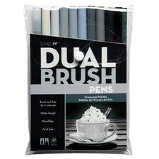 Dual Brush Grayscale Pen (Set of 10)