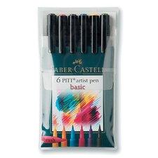 Faber-Castell Artist Brush Pens (Set of 6)