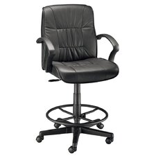 Mid-Back Leather Drafting Chair