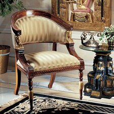 Egyptian Revival Fabric Arm Chair by Design Toscano