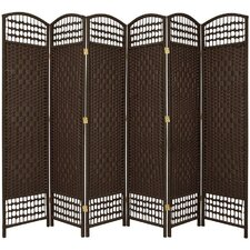 67 x 76 Weave 6 Panel Room Divider by Oriental Furniture