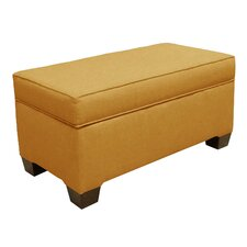 Fabric Storage Bedroom Bench by Skyline Furniture