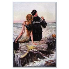 Sailor and Mermaid Painting Print on Wrapped Canvas