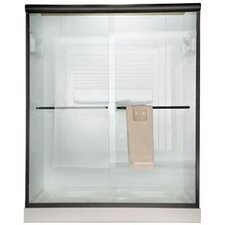 Euro 70 x 48 Bypass Frameless Shower Door with Bistro Glass by American Standard