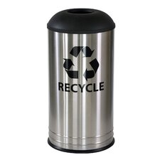 Stainless Steel 18 Gallon Recycling Bin