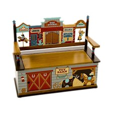 Wild West Kids Bench with Storage Compartment by Levels of Discovery
