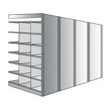 Deep Bin 87 H 7 Shelf Shelving Unit Add on by Hallowell