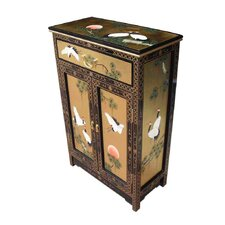 Gold Leaf 2 Door 1 Drawer Cabinet