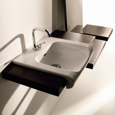 "Inka Ceramic 15.7"" Wall mount Bathroom Sink with Overflow"