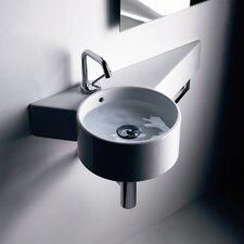 "Tao 11.8"" Wall mount Bathroom Sink with Overflow"