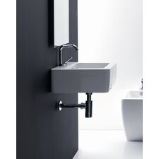 "Ego 23.6"" Wall mount Bathroom Sink with Overflow"