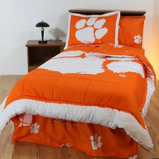 NCAA Clemson Bed in a Bag - With White Sheets
