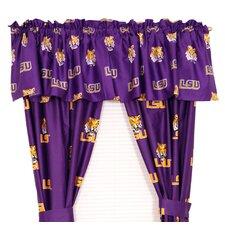 NCAA Louisiana State University Printed Sports Rod Pocket Curtain Panels (Set of 2)