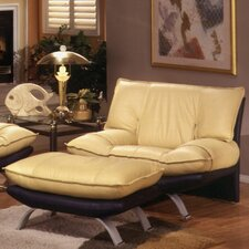 Princeton Leather Lounge Chair by Omnia Leather