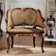 Louis XV French Rattan Armchair by Design Toscano