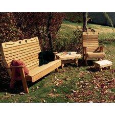 Cedar Twin Ponds Rocking Glider Chair Set by Creekvine Designs