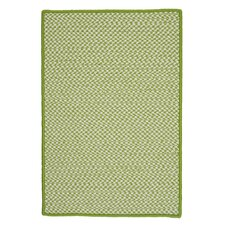 Outdoor Houndstooth Tweed Lime Area Rug