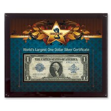 World's Largest Silver Certificate Currency Framed Memorabilia