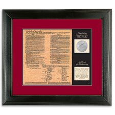 Birth of a Nation Constitution Framed Memorabilia