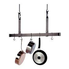 USA Handcrafted Gourmet Ceiling Bar Pot Rack Adjustable