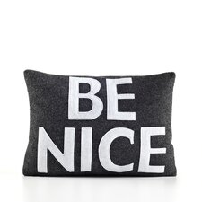 "House Rules ""Be Nice"" Throw Pillow"