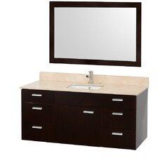 Encore 52 Single Bathroom Vanity Set with Mirror by Wyndham Collection