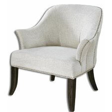 Leisa White Barrel Chair by Uttermost