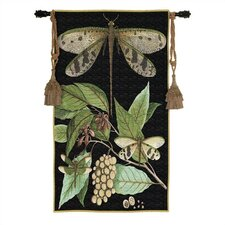 Floral Whimsical Dragonfly I Tapestry