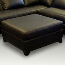 Villa Cocktail Leather Ottoman by Omnia Leather