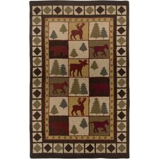 Country Hand-Tufted Wool Brown Area Rug