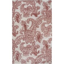 Floral Hand-tufted Wool Beige/Red Area Rug