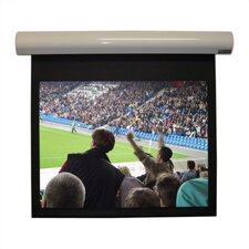 """Lectric I Matte Black 92"""" diagonal Electric Projection Screen Low Voltage Motor"""