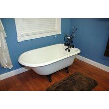 55 x 23.25 Rolled Rim Claw Foot  Bathtub by Cambridge Plumbing