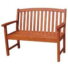 Slatback Hardwood Garden Bench by International Concepts