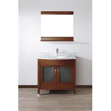 Alfa 36 Single Bathroom Vanity Set with Mirror by Bauhaus Bath