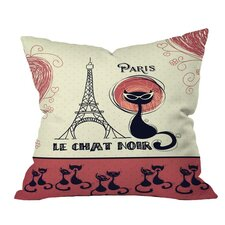 Belle 13 Le Chat Noir Outdoor Throw Pillow by DENY Designs