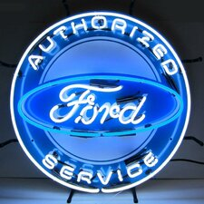 Ford Neon Sign with Silkscreen Backing