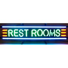 Business Signs Rest Rooms Neon Sign